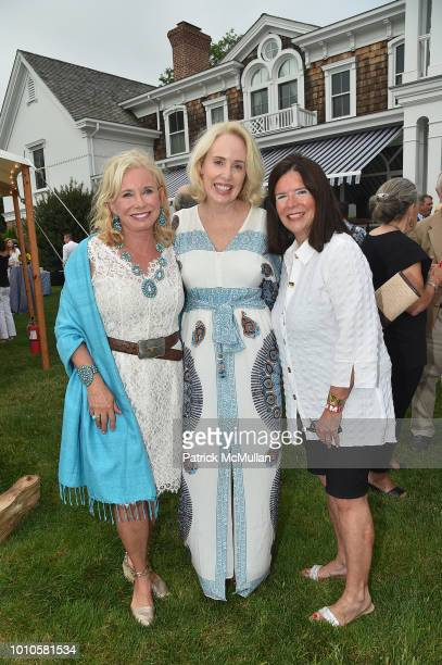 Sharon Bush Amy Hoadley and Stephanie Whittier attend the Rita Hayworth Gala Hamptons Kickoff Event hosted by Alzheimer's Association at Private...