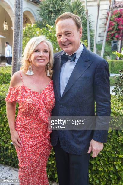 Sharon Bush and Alex Donner attend Sharon Bush Hosts Benefit Dinner for Cristo Rey Brooklyn High School at Private Estate on March 29 2018 in Palm...