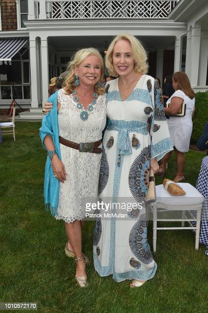 Sharon Bush and Amy Hoadley attend the Rita Hayworth Gala Hamptons Kickoff Event hosted by Alzheimer's Association at Private Residence on August 3...
