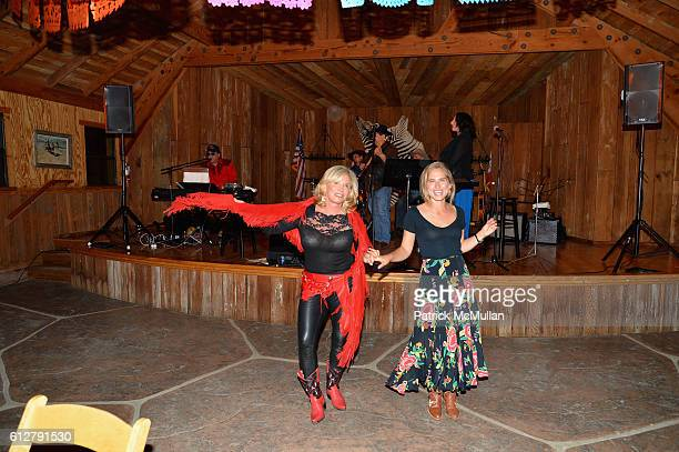 Sharon Bush and Ashley Bush attend Hearst Castle Preservation Foundation Annual Benefit Weekend 2016 Hearst Ranch Patron Cowboy Cookout at Hearst...