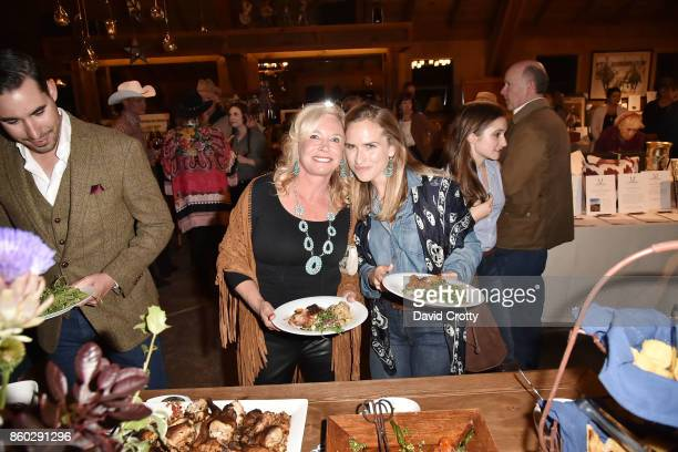 Sharon Bush and Ashley Bush attend Hearst Castle Preservation Foundation Annual Benefit Weekend 'Hearst Ranch Patron Cowboy Cookout' at Hearst Dairy...