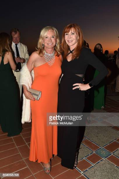 Sharon Bush and Nicole Miller attend Hearst Castle Preservation Foundation Benefit Weekend James Bond 007 Costume Gala at Hearst Castle on September...