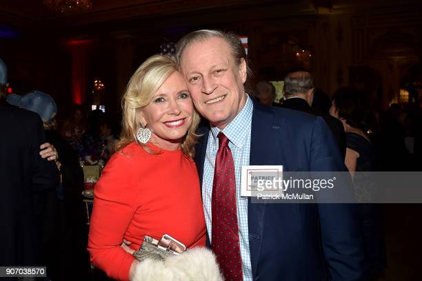 Sharon Bush and Patrick McMullan attend President Trump's one year anniversary with over 800 guests at the winter White House at MaraLago on January...