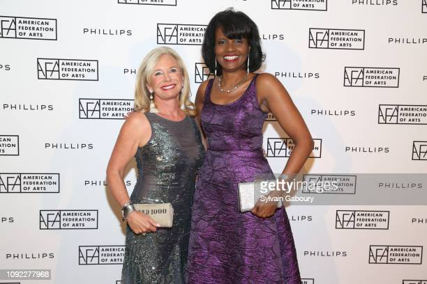 Sharon Bush and Pauline Willis attend American Federation Of Arts 2018 Gala at Guastavino's on November 8 2018 in New York City