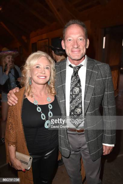 Sharon Bush and Tony Peck attend Hearst Castle Preservation Foundation Annual Benefit Weekend Hearst Ranch Patron Cowboy Cookout at Hearst Dairy Barn...