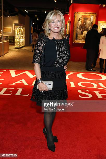Sharon Bush attends the 2016 New York Art Antique Jewelry Show FEED Preview Party at Pier 94 on November 9 2016 in New York City