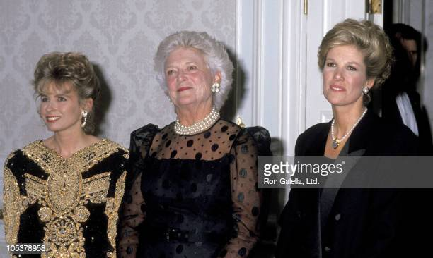 Sharon Bush Barbara Bush And Joan Lunden during Karitas Foundation Benefit For Abused Homeless Kids May 7 1991 at Plaza Hotel in New York City NY...