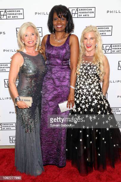 Sharon Bush Pauline Willis and Martha MacMillan attend American Federation Of Arts 2018 Gala at Guastavino's on November 8 2018 in New York City