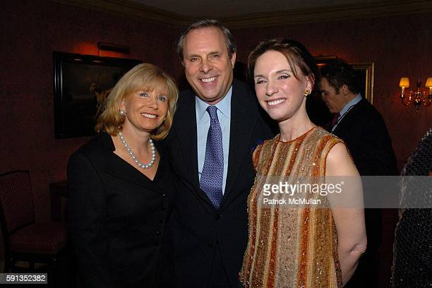 Sharon Bush Roger Webster and Michele Gerber Klein attend Launch of La Nuit des Etoiles Festival Dinner for French Institute Alliance Francaise to...