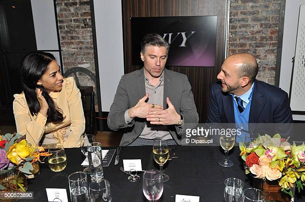 Sharon Carpenter Anson Mount and IVY cofounder Beri Meric attend the IVY Innovator New York Dinner presented by Cadillac on December 8 2015 in New...