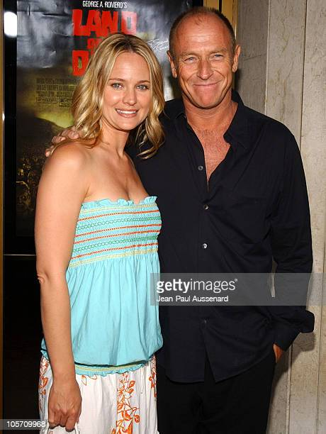 Sharon Case and Corbin Bernsen during 'Land of the Dead' Los Angeles Premiere Arrivals at National Theatre in Westwood California United States