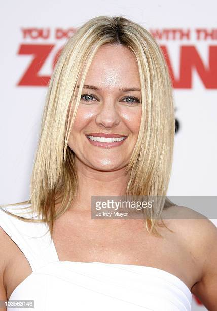 """Sharon Case arrives at Sony Pictures Premiere of """"You Don't Mess With the Zohan"""" at Grauman's Chinese Theatre on May 28, 2008 in Hollywood,..."""