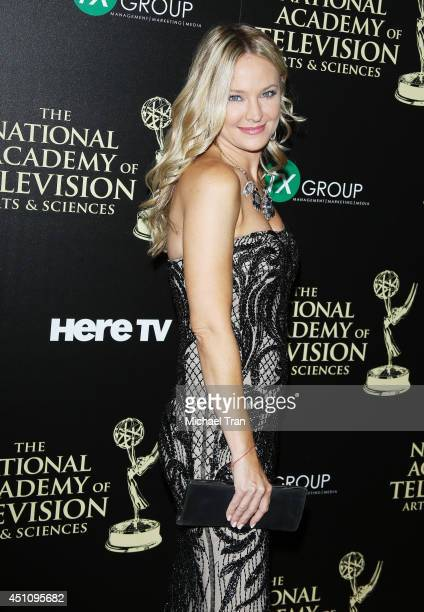 Sharon Case arrives at the 41st Annual Daytime Emmy Awards held at The Beverly Hilton Hotel on June 22 2014 in Beverly Hills California