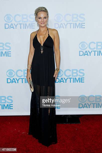Sharon Case attends the CBS Daytime Emmy after party at Hollywood Athletic Club on April 26 2015 in Hollywood California