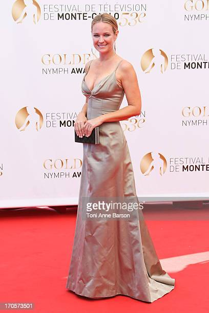 Sharon Case attends the closing ceremony of the 53rd Monte Carlo TV Festival on June 13 2013 in MonteCarlo Monaco
