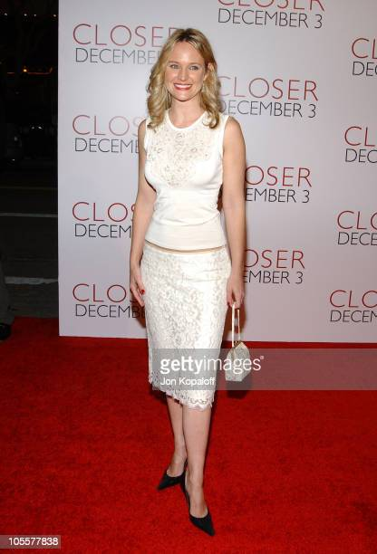 Sharon Case during 'Closer' Los Angeles Premiere Arrivals at Mann Village Theatre in Westwood California United States
