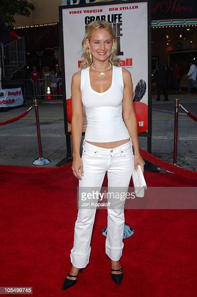 Sharon Case during 'DodgeBall A True Underdog Story' World Premiere Arrivals at Mann Village Theatre in Westwood California United States
