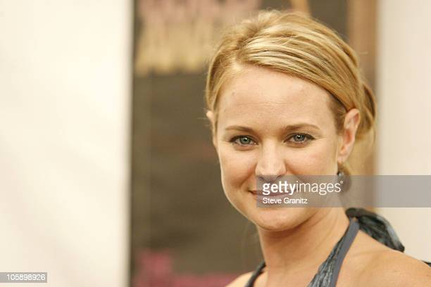 Sharon Case presenter during 2006 Writers Guild Awards Press Room at Hollywood Palladium in Hollywood California United States