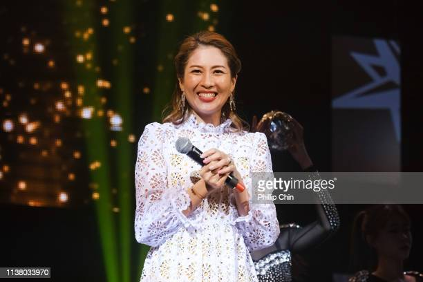 Sharon Chan performs at the TVB Fairchild Fans Party at the River Rock Casino and Resort on April 18 2019 in Richmond Canada