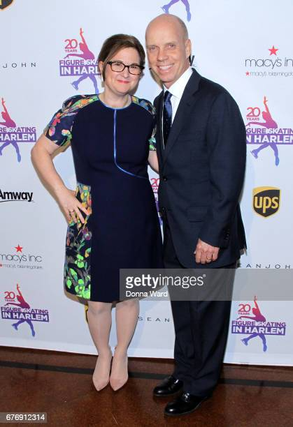 Sharon Cohen and Scott Hamilton attend the Figure Skating in Harlem 20th Anniversary Champions in Life Gala at 583 Park Avenue on May 2 2017 in New...