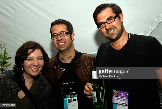 Sharon Colman For The Love of God composer Miguel D'Oliveria and For The Love of God producer Raphael Warner attend the Shorts International party...