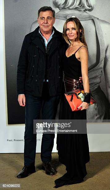 Sharon Corr and Angel Schlesser attend the opening of the exhibition 'LOEWE Past Present Future' at Botanic Garden on November 17 2016 in Madrid Spain