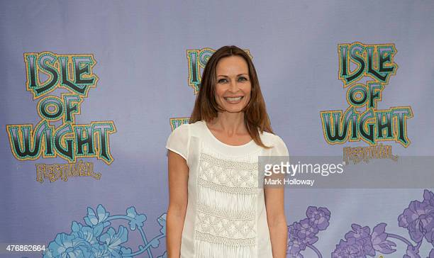 Sharon Corr back stage at IOW Festival at Seaclose Park on June 12 2015 in Newport United Kingdom