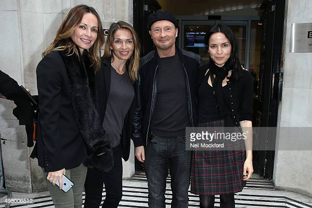 Sharon Corr Caroline Corr Jim Corr and Andrea Corr seen at BBC Radio 2 on November 20 2015 in London England