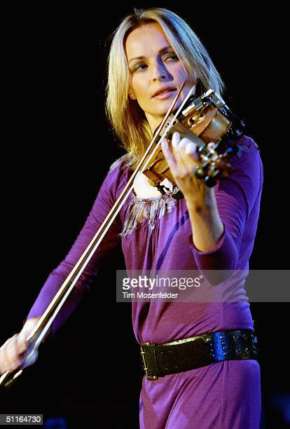 Sharon Corr of The Corrs performs part of the band's 'Borrowed Heaven Tour 2004' at the Mountain Winery on August 12 2004 in Saratoga California