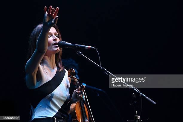 Sharon Corr performs live on stage at TSB Arena on February 2 2012 in Wellington New Zealand