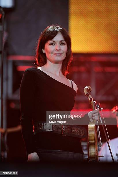 Sharon Corr performs on stage at the '46664 Arctic' concert at Fyllingen on June 11 2005 in Tromso Norway The fourth concert aims to raise awareness...