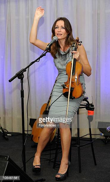 Sharon Corr presents her new album 'Dream Of You' at the Villa Real Hotel on October 14 2010 in Madrid Spain