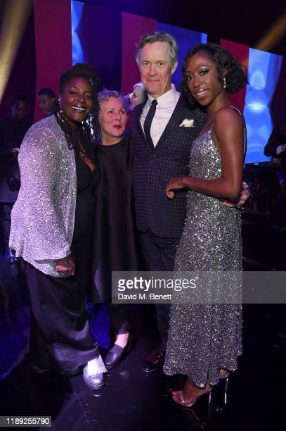 Sharon D Clarke guest Alex Jennings and Nikki AmukaBird attend the after party of the 65th Evening Standard Theatre Awards In Association With...