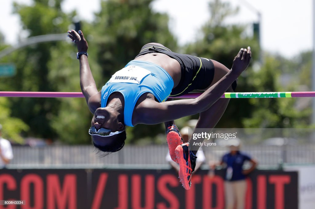 Sharon Day-Monroe clears the bar in the Heptathlon High Jump during Day 3 of the 2017 USA Track & Field Championships at Hornet Satdium on June 24, 2017 in Sacramento, California.