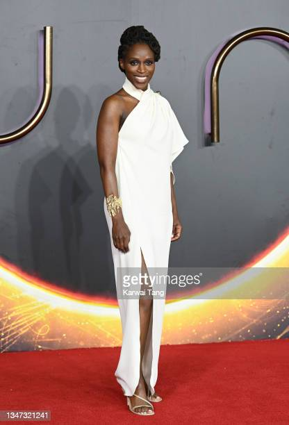 """Sharon Duncan Brewster attends the """"Dune"""" UK Special Screening at Odeon Luxe Leicester Square on October 18, 2021 in London, England."""