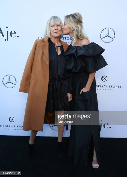 Sharon Fairfax and Nadia Fairfax attend the Mercedes-Benz Presents Aje show at Mercedes-Benz Fashion Week Resort 20 Collections at Campbell's Stores...