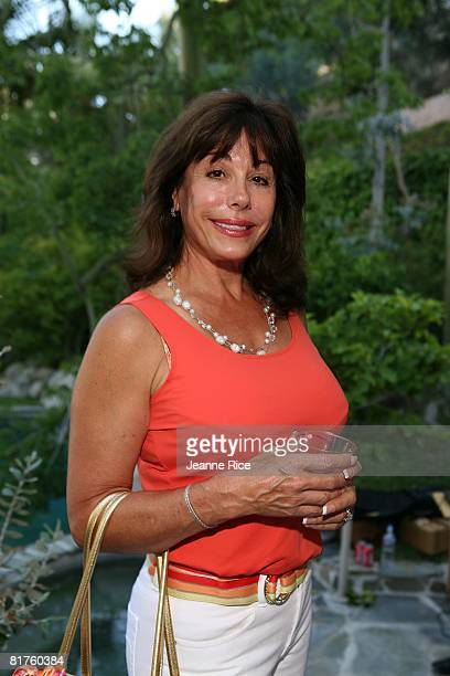 Sharon Friem attends Trigg Ison Fine art exhibit for the work of Maxine Kim StussyFrankel at her home June 28 2008 in Los Angeles California