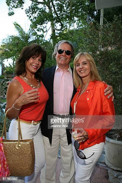 Sharon Friem Jack Kelly and Vania Brandao attend Trigg Ison Fine art exhibit for the work of Maxine Kim StussyFrankel at her home June 28 2008 in Los...