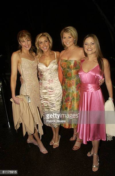 Sharon Ghidella with Catriona Rowntree Georgie Gardner and Toni Pearen at a gala dinner event to celebrate the 70th Anniversary of Australian...