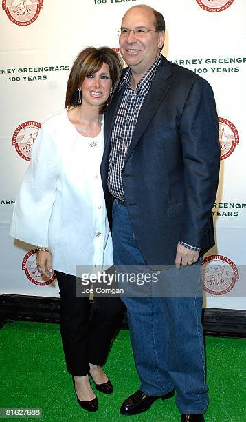 Sharon Greengrass and Gary Greengrass owner of Barney Greengrass host a celebration of 100 years on June 18 2008 at Barney Greengrass in New York