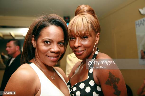 Sharon Harris and Mary J Blige during Gotham and Hamptons Magazines Celebrate with Cover Star Mary J Blige at Pink Elephant in Southampton at Pink...