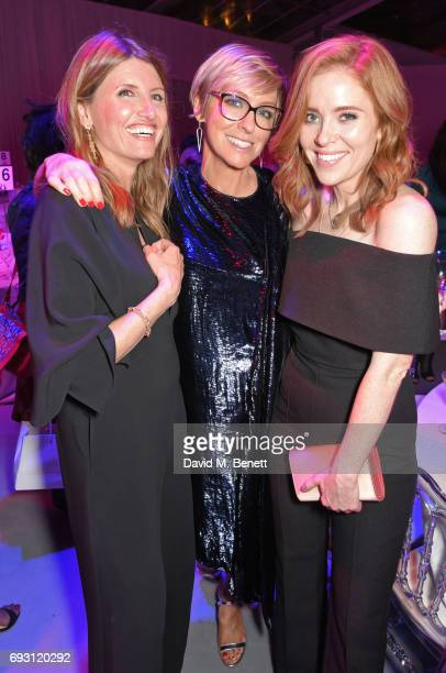 Sharon Horgan Glamour editor Jo Elvin and Angela Scanlon attend the Glamour Women of The Year Awards 2017 in Berkeley Square Gardens on June 6 2017...