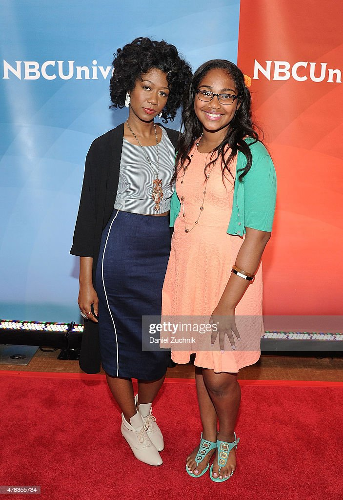 Sharon Irving and Arielle Baril attend the 2015 NBC New York Summer Press Day at Four Seasons Hotel New York on June 24, 2015 in New York City.