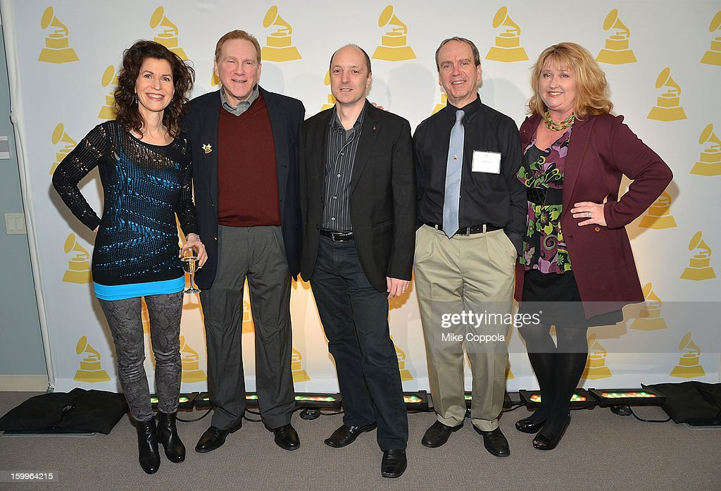 Sharon Isbin, classical music producer Steven Epstein, David Frost, Tim Martin, and President of The Recording Academy's New York chapter Linda Lorence Critelli attend GRAMMY Nominee Reception at The Recording Academy NY Chapter on January 23, 2013 in New York City.