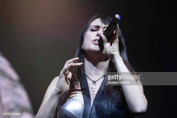Sharon Janny den Adel of Within Temptation performs live on stage during a concert at Columbiahalle Berlin on November 8 2018 in Berlin Germany