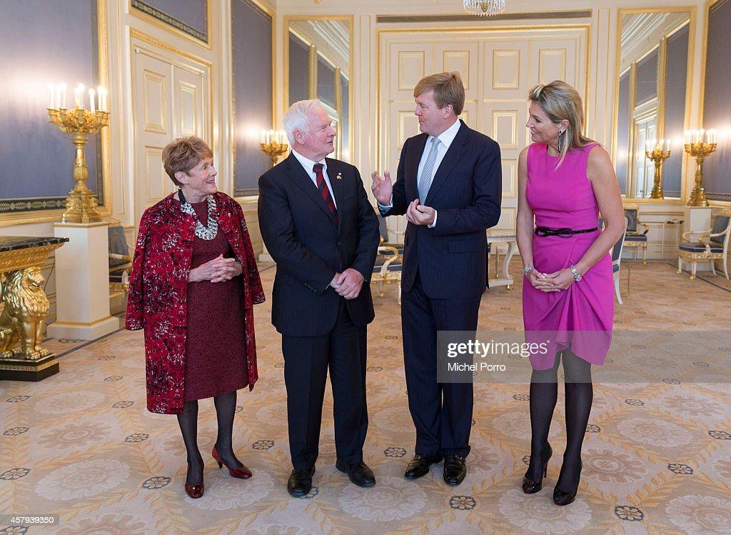 Governor General David Johnston Of Canada Visits The Netherlands : News Photo