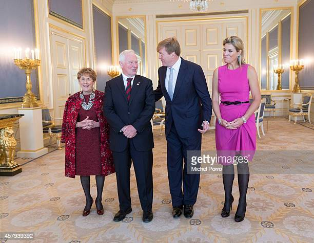 Sharon Johnston, Governor General and Commander-in-Chief David Johnston of Canada, King Willem-Alexander of The Netherlands and Queen Maxima of The...