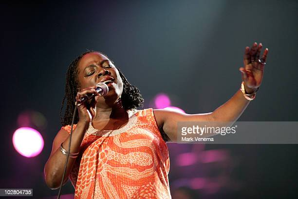 Sharon Jones performs live at day 2 of The North Sea Jazz Festival at Ahoy on July 10, 2010 in Rotterdam, Netherlands.