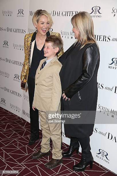 Sharon Laird and Kelly Stone arrive at the pemiere of Screen Media Film's MOTHERS AND DAUGHTERS at The London West Hollywood on April 28 2016 in West...