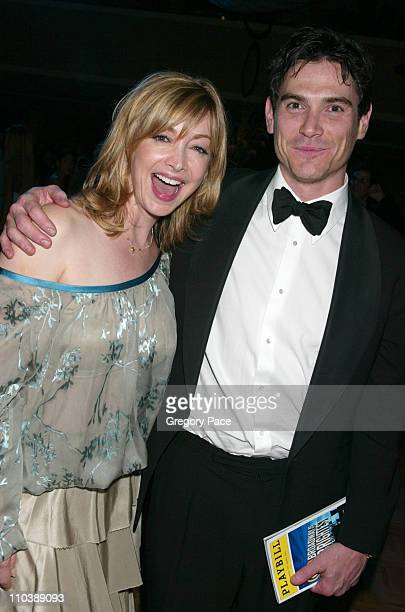 Sharon Lawrence and Billy Crudup during 59th Annual Tony Awards After Party at Marriott Marquis in New York City New York United States